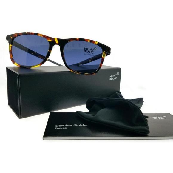 dce8a92018 MB593S-55V-54 Square Men Tortoise Frame Sunglasses. NWT. Montblanc